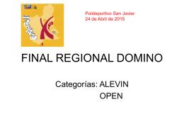 FINAL REGIONAL DOMINO