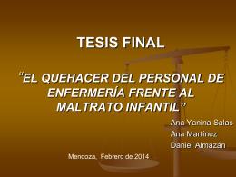 """TESIS FINAL """"EL QUEHACER DEL PERSONAL DE …"""