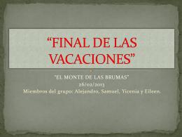 FINAL DE LAS VACACIONES