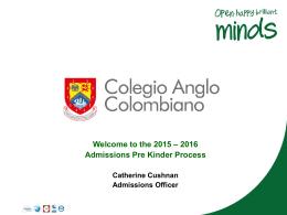 Proceso de Admisiones - Colegio Anglo Colombiano