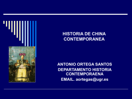 HISTORIA DE CHINA CONTEMPORANEA