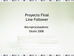 Proyecto Final Line Follower