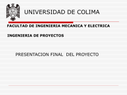 UNIVERSIDAD DE COLIMA FACULTAD DE INGENIERIA …