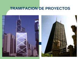 TRAMITACION DE PROYECTOS