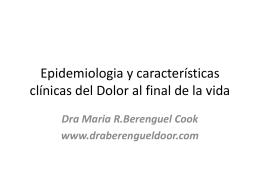 Epidemiologia y caracteristicas clinicas del Dolor al