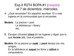 Esp.II R2T2 BOPA #3 (rojo) el 9/12 de noviembre, …