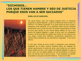 DICHOSOS... LOS QUE TIENEN HAMBRE Y SED DE …