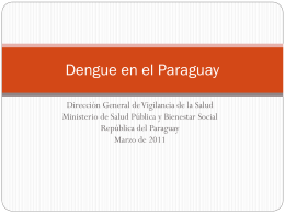 Dengue en el Paraguay - Home - Portal Instituto Nacional