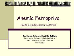 Anemia Ferropriva