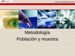 METODOLOGIA DE LA INVESTIGACION - PIS1