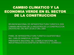 CAMBIO CLIMATICO Y LA ECONOMIA VERDE EN EL …