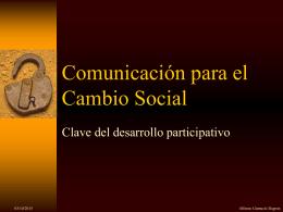 Comunicacion para el Cambio Social
