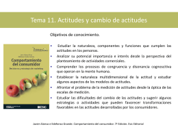 Tema 11. Actitudes y cambio de actitudes