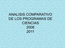 Continuidad y cambio en los Programas de estudio de …