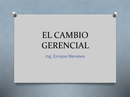 EL CAMBIO GERENCIAL - Jolumecha - Charity Center