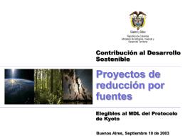 Proyectos elegibles al MDL
