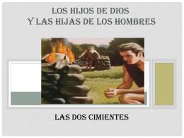 LOS HIJOS DE DIOS Y LAS HIJAS DE LOS HOMBRES