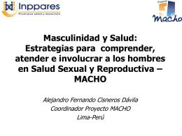 Masculinidad y Salud: Estrategias para comprender, …