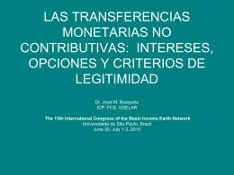 LAS TRANSFERENCIAS MONETARIAS: OPCIONES Y …