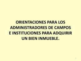 ORIENTACIONES PARA LOS ADMINISTRADORES DE …