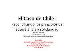 El Caso Chile: Reconciliando los principios de