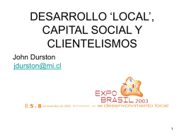 CAPITAL SOCIAL Y CLIENTELISMO EN EL CHILE RURAL