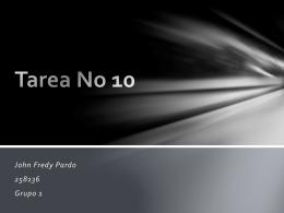 Tarea No 10