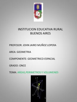 INSTITUCION EDUCATIVA RURAL BUENOS AIRES