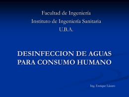 DESINFECCION DE AGUAS PARA CONSUMO HUMANO