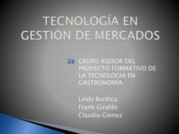 TECNOLOGIA EN GASTRONOMIA