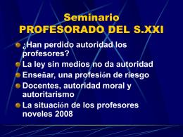 Seminario PROFESORADO DEL S.XXI