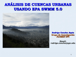INTRODUCCION A EPA SWMM 5.0