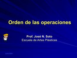 Orden de operaciones.
