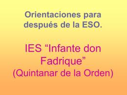 "IES ""Infante don Fadrique"" (Quintanar de la Orden)"