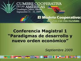 """Conferencia Magistral 1: """"Paradigmas de desarrollo y …"""