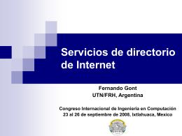 Servicios de directorio en Internet