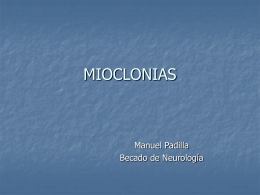Mioclonias - CETRAM | Centro de Trastornos del Movimiento