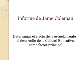 El informe Coleman