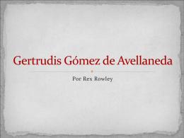 Gertudris Gomez de Avellaneda