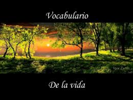 AG2- Vocabulario de la vida