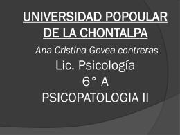 UNIVERSIDAD POPOULAR DE LA CHONTALPA Ana …