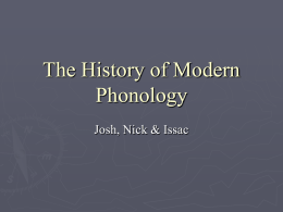 The History of Modern Phonology