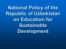 National Policy of the Republic of Uzbekistan on Education