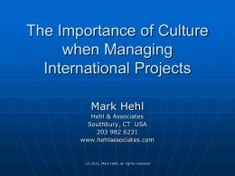 Culture - PMI SFBAC