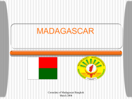 MADAGASCAR - [Consulate of The Republic of Madagascar]