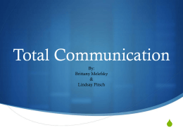 Total Communication - Deaf-Education-Practicum-Work