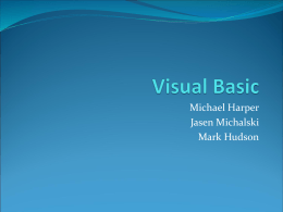 Visual Basic - Computer Science & Engineering