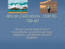 African Civilizations, 1500 BC