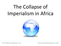 The Scramble for Africa - Great Valley School District