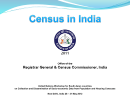 Plan schemes Registrar General, India
